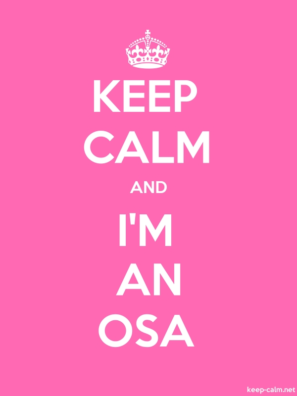 KEEP CALM AND I'M AN OSA - white/pink - Default (600x800)