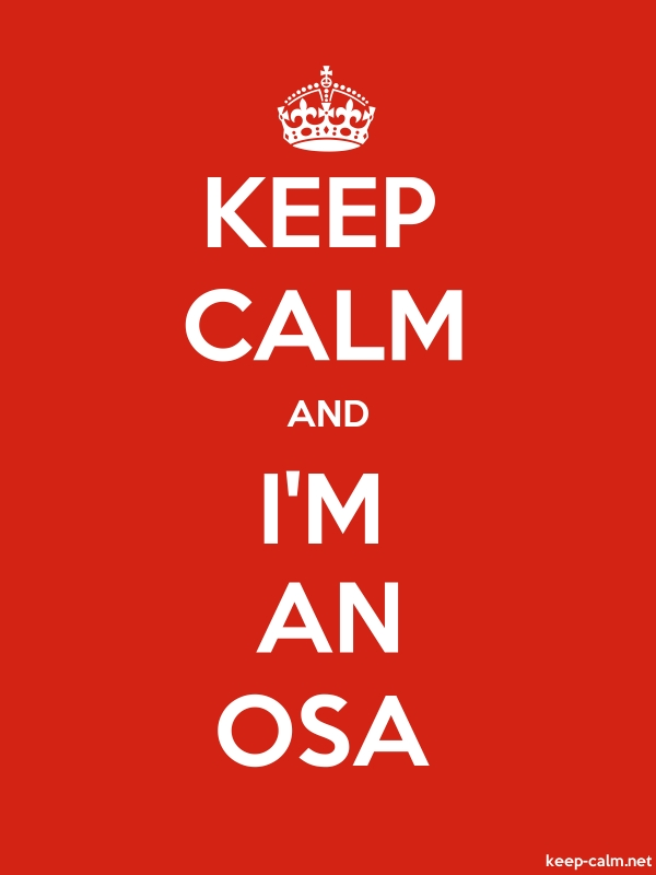 KEEP CALM AND I'M AN OSA - white/red - Default (600x800)