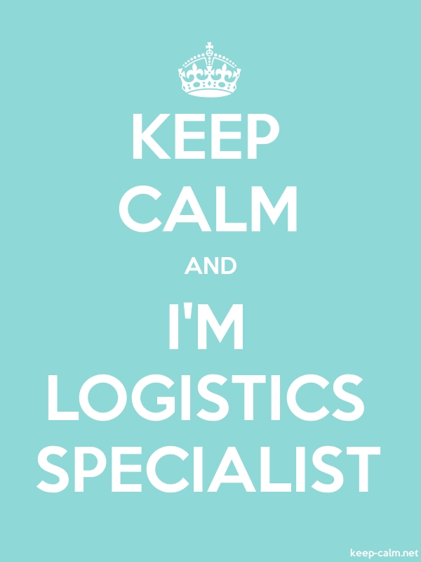 KEEP CALM AND I'M LOGISTICS SPECIALIST - white/lightblue - Default (600x800)