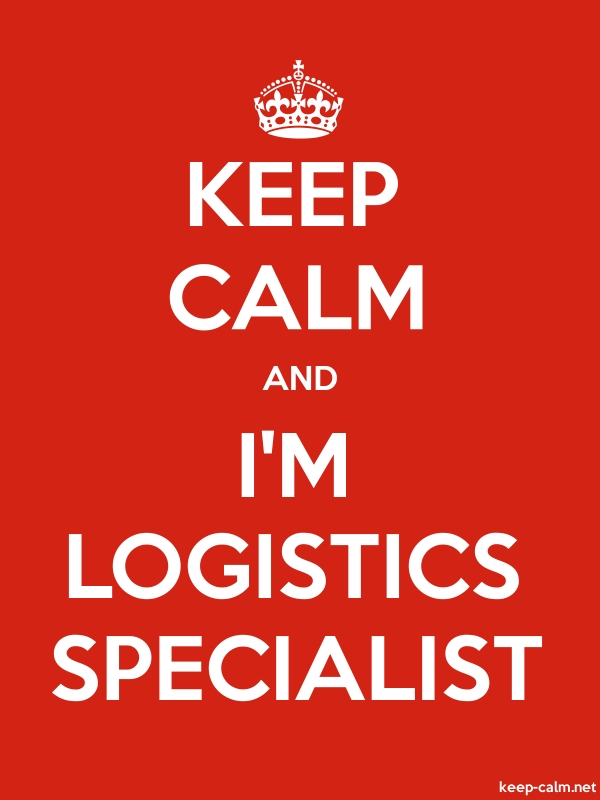 KEEP CALM AND I'M LOGISTICS SPECIALIST - white/red - Default (600x800)