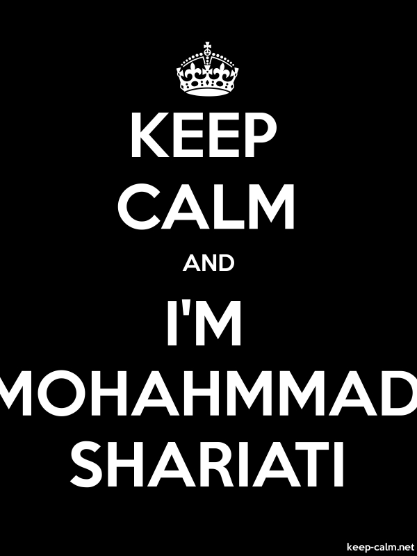KEEP CALM AND I'M MOHAHMMAD SHARIATI - white/black - Default (600x800)