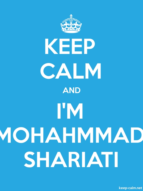 KEEP CALM AND I'M MOHAHMMAD SHARIATI - white/blue - Default (600x800)