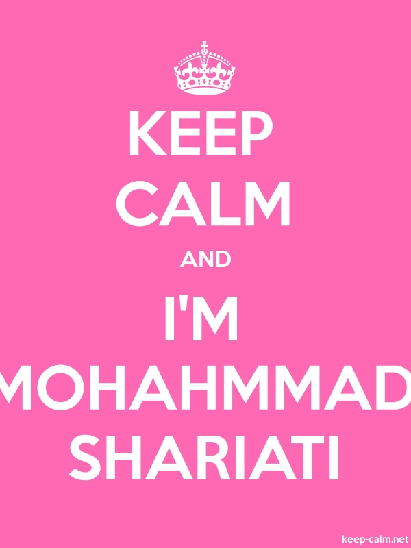KEEP CALM AND I'M MOHAHMMAD SHARIATI - white/pink - Default (600x800)