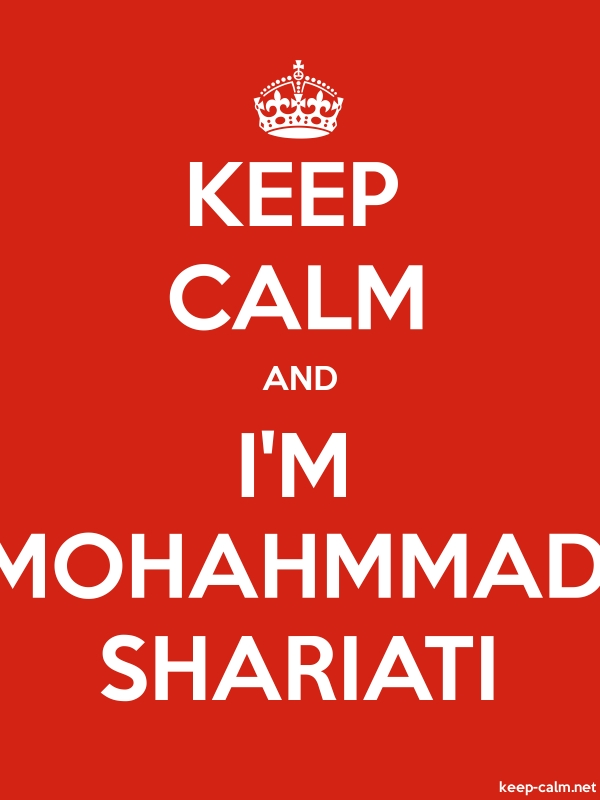 KEEP CALM AND I'M MOHAHMMAD SHARIATI - white/red - Default (600x800)
