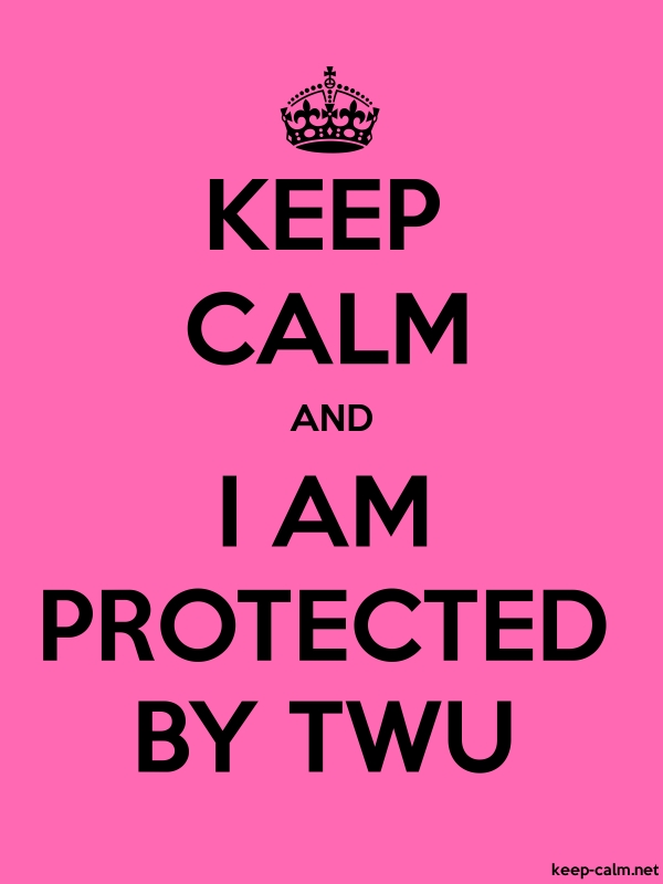 KEEP CALM AND I AM PROTECTED BY TWU - black/pink - Default (600x800)