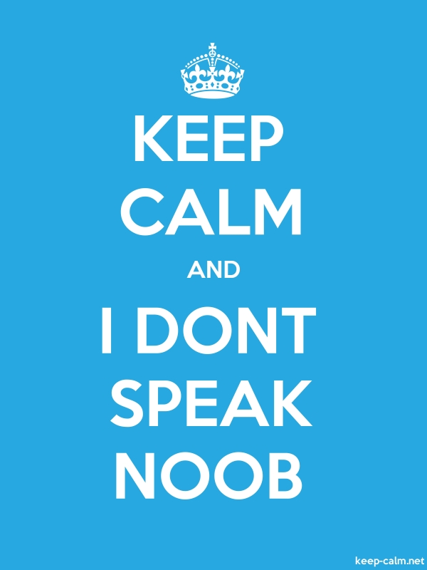 KEEP CALM AND I DONT SPEAK NOOB - white/blue - Default (600x800)