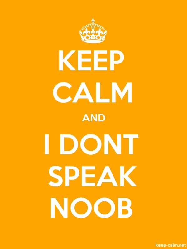 KEEP CALM AND I DONT SPEAK NOOB - white/orange - Default (600x800)