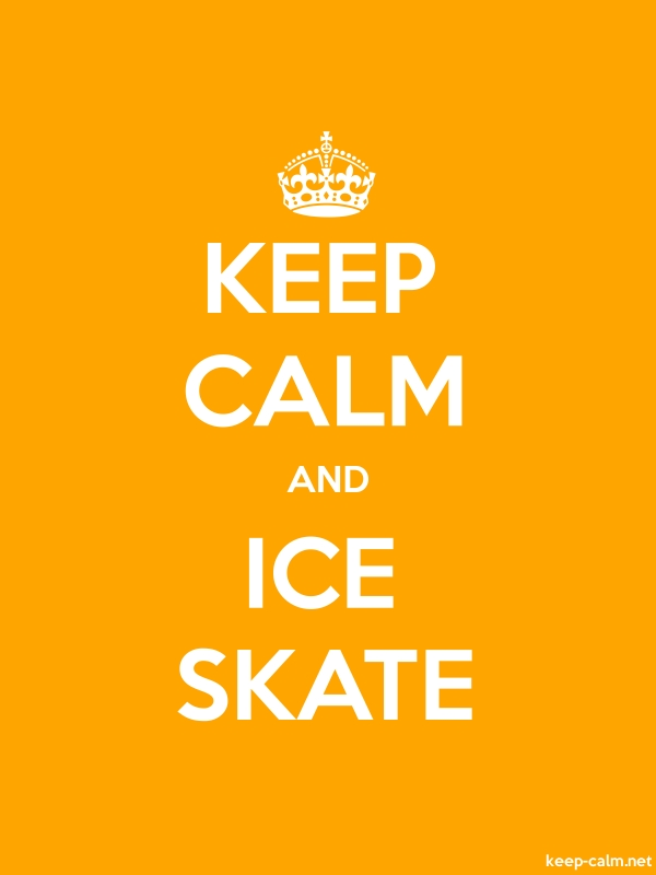 KEEP CALM AND ICE SKATE - white/orange - Default (600x800)
