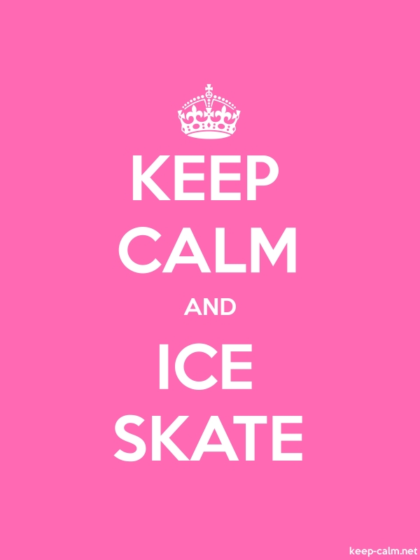 KEEP CALM AND ICE SKATE - white/pink - Default (600x800)