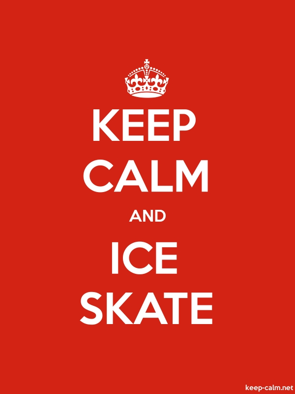 KEEP CALM AND ICE SKATE - white/red - Default (600x800)