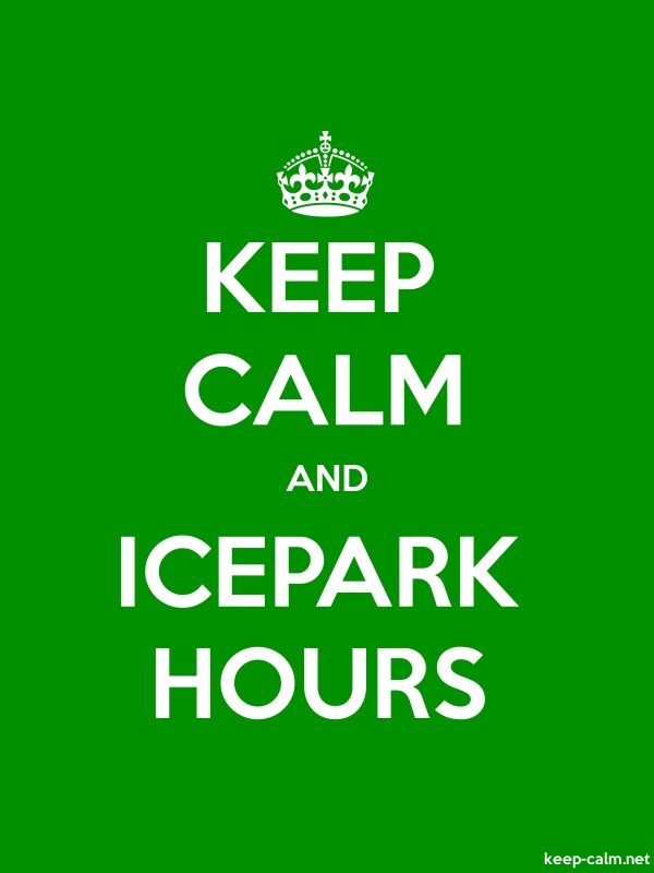 KEEP CALM AND ICEPARK HOURS - white/green - Default (600x800)