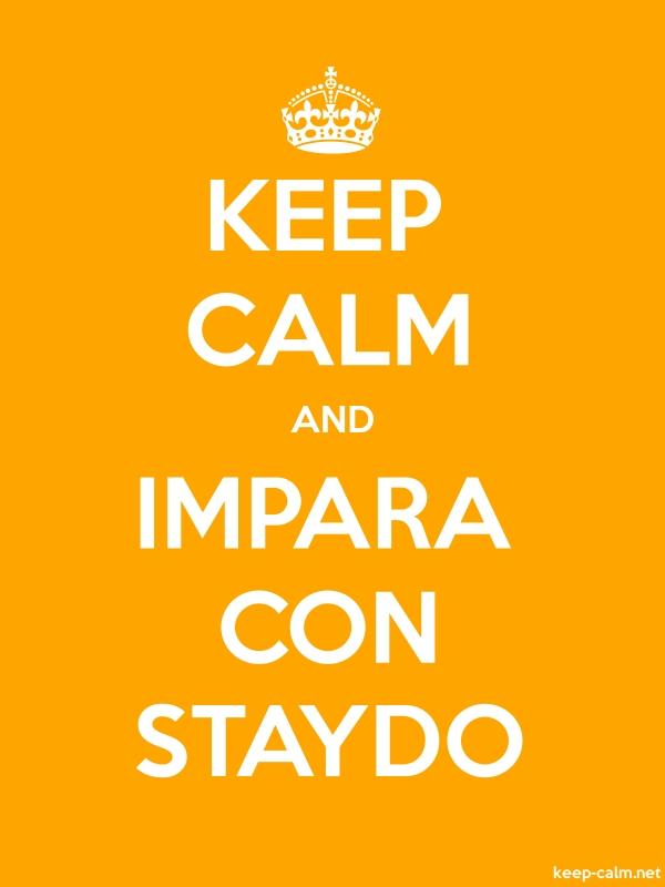 KEEP CALM AND IMPARA CON STAYDO - white/orange - Default (600x800)