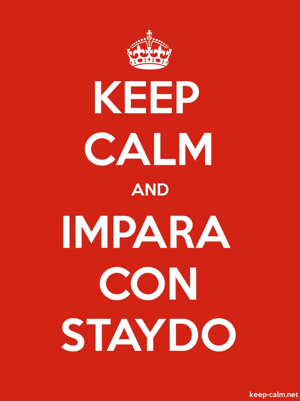 KEEP CALM AND IMPARA CON STAYDO - white/red - Default (600x800)