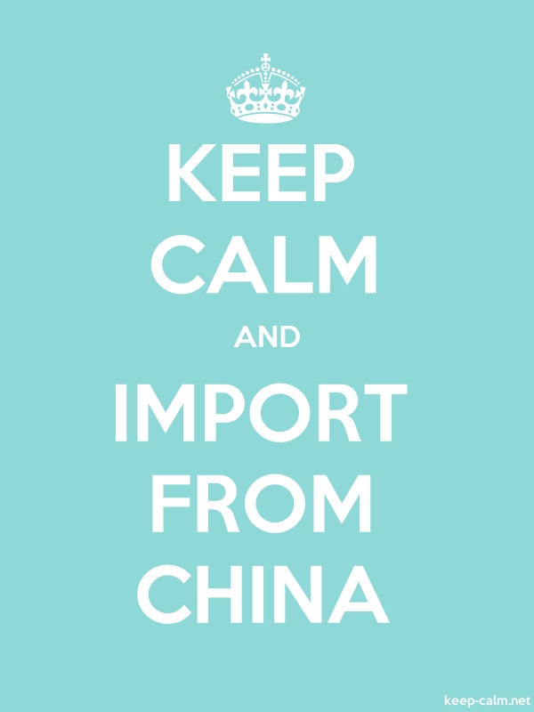 KEEP CALM AND IMPORT FROM CHINA - white/lightblue - Default (600x800)