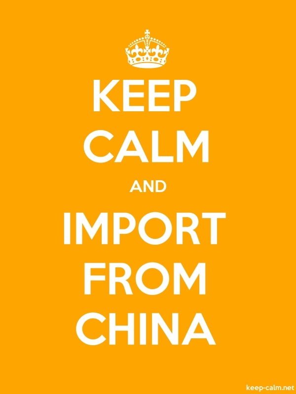 KEEP CALM AND IMPORT FROM CHINA - white/orange - Default (600x800)
