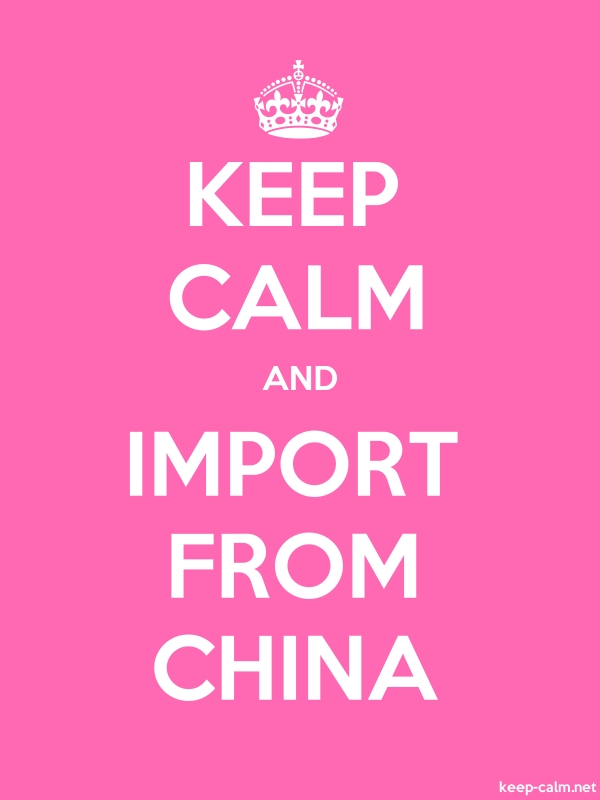KEEP CALM AND IMPORT FROM CHINA - white/pink - Default (600x800)