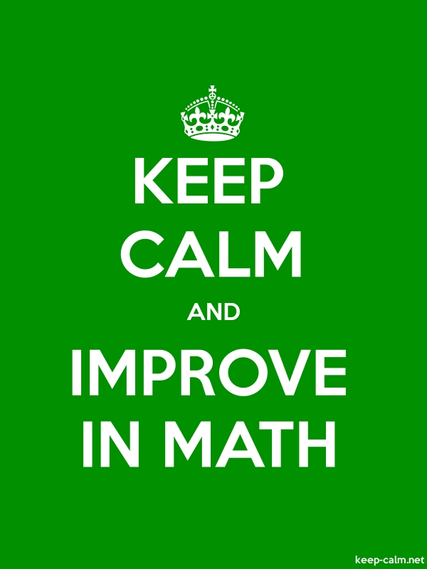 KEEP CALM AND IMPROVE IN MATH - white/green - Default (600x800)
