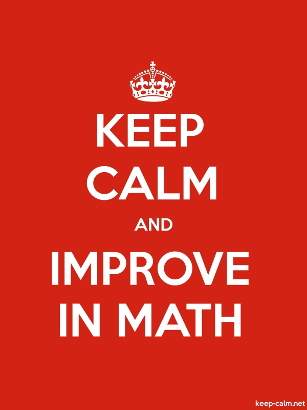 KEEP CALM AND IMPROVE IN MATH - white/red - Default (600x800)