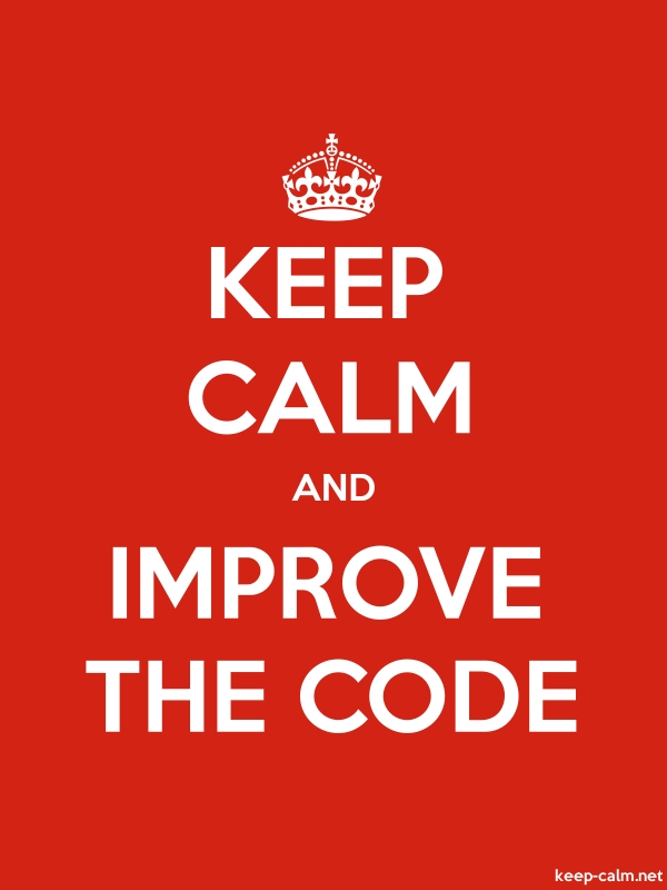 KEEP CALM AND IMPROVE THE CODE - white/red - Default (600x800)
