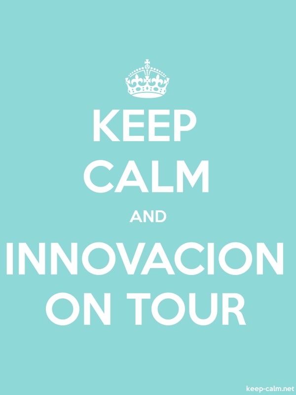 KEEP CALM AND INNOVACION ON TOUR - white/lightblue - Default (600x800)