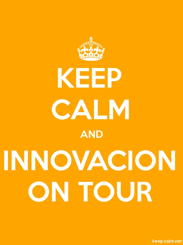 KEEP CALM AND INNOVACION ON TOUR - white/orange - Default (600x800)