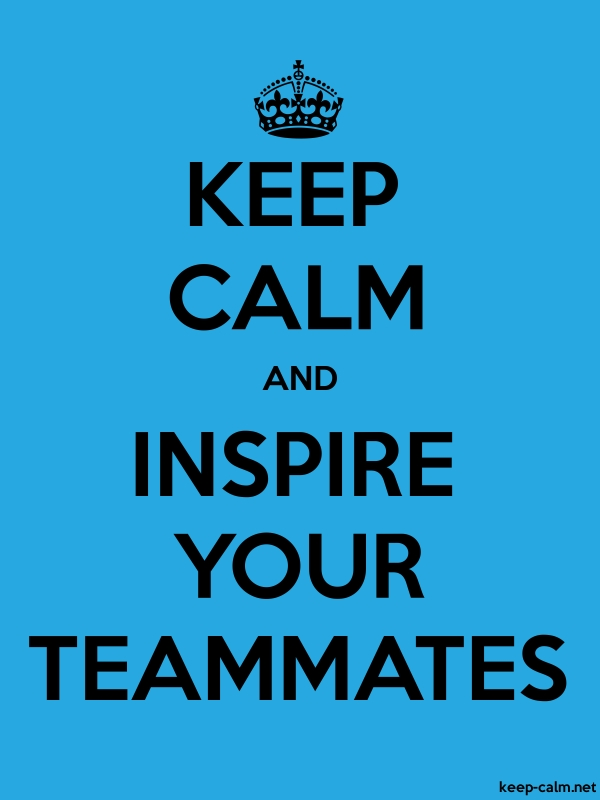 KEEP CALM AND INSPIRE YOUR TEAMMATES - black/blue - Default (600x800)