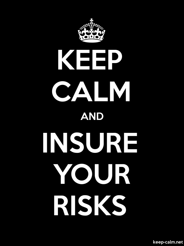 KEEP CALM AND INSURE YOUR RISKS - white/black - Default (600x800)