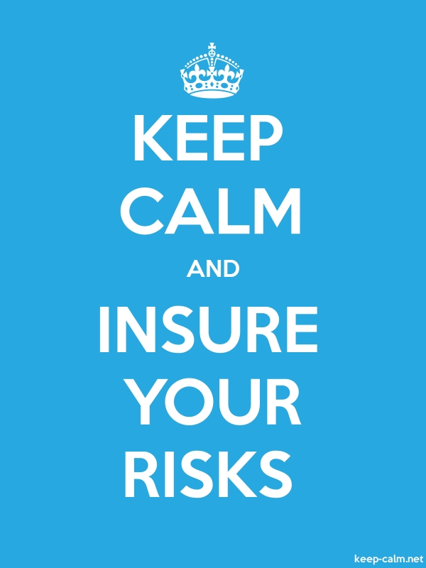 KEEP CALM AND INSURE YOUR RISKS - white/blue - Default (600x800)