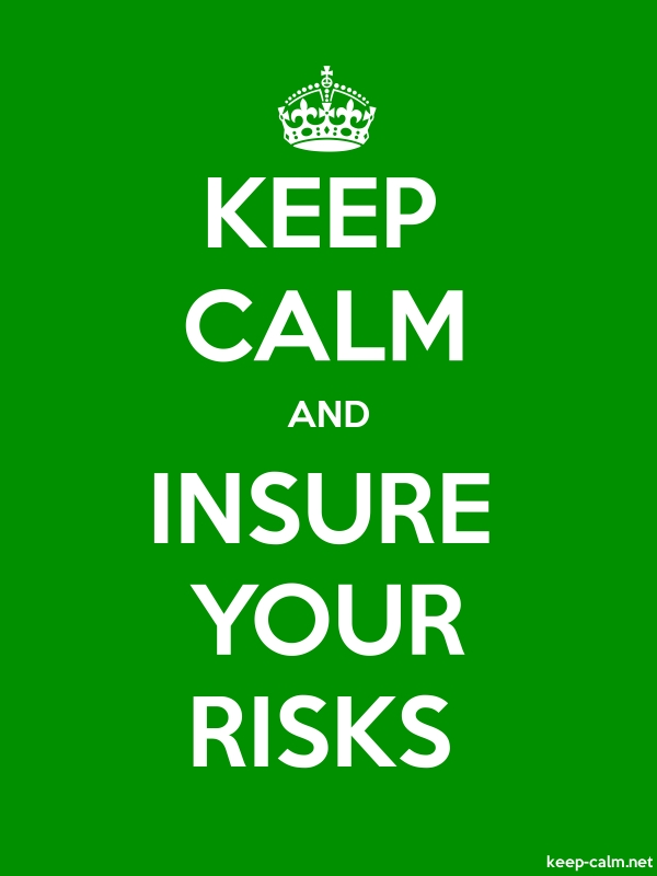KEEP CALM AND INSURE YOUR RISKS - white/green - Default (600x800)