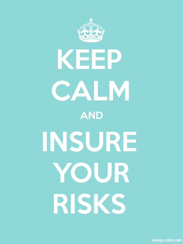 KEEP CALM AND INSURE YOUR RISKS - white/lightblue - Default (600x800)