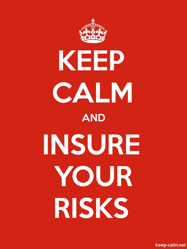 KEEP CALM AND INSURE YOUR RISKS - white/red - Default (600x800)