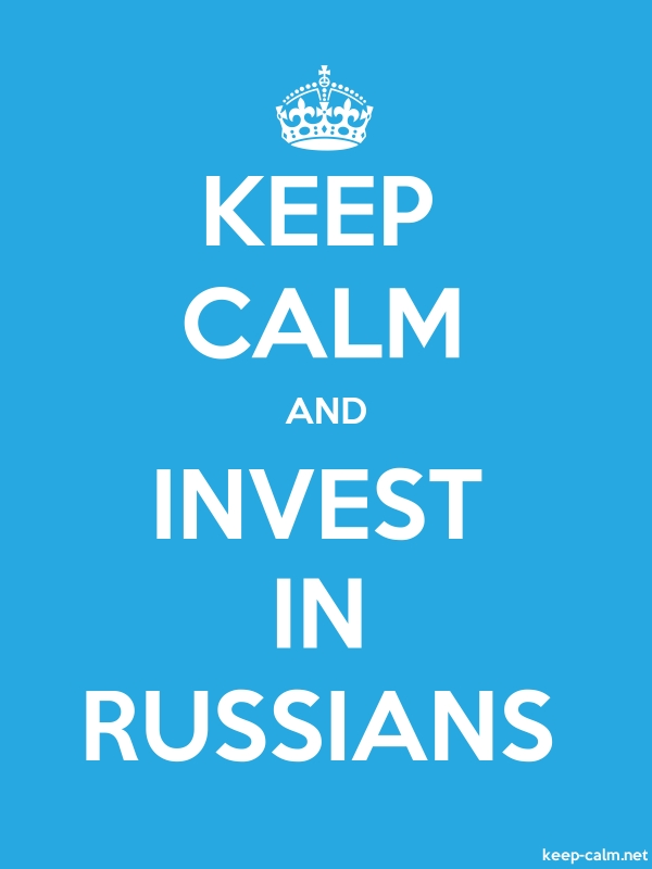KEEP CALM AND INVEST IN RUSSIANS - white/blue - Default (600x800)