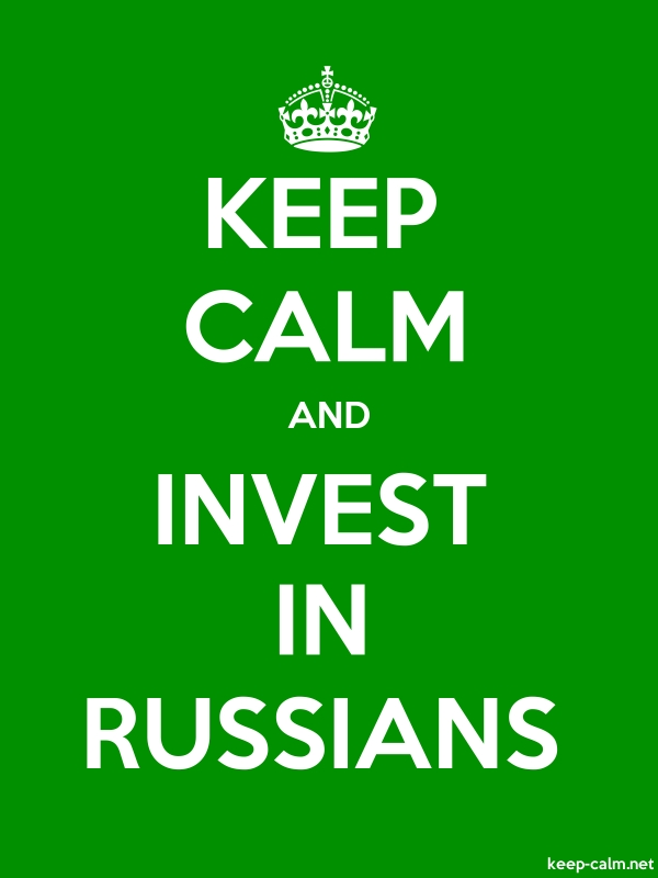 KEEP CALM AND INVEST IN RUSSIANS - white/green - Default (600x800)