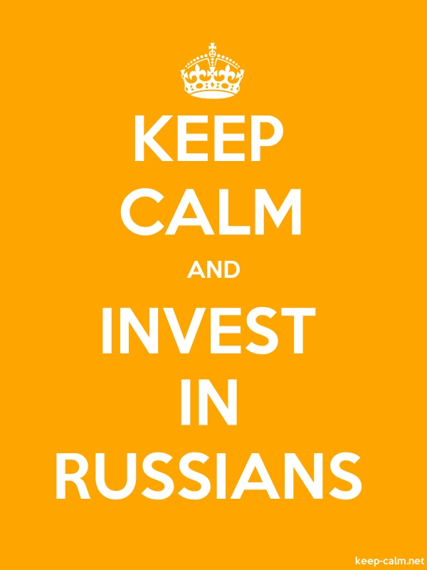 KEEP CALM AND INVEST IN RUSSIANS - white/orange - Default (600x800)