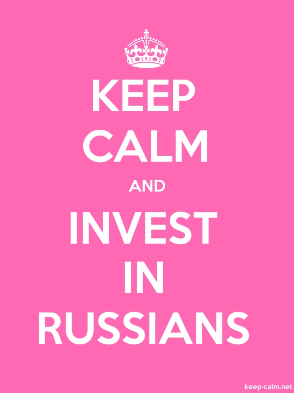 KEEP CALM AND INVEST IN RUSSIANS - white/pink - Default (600x800)