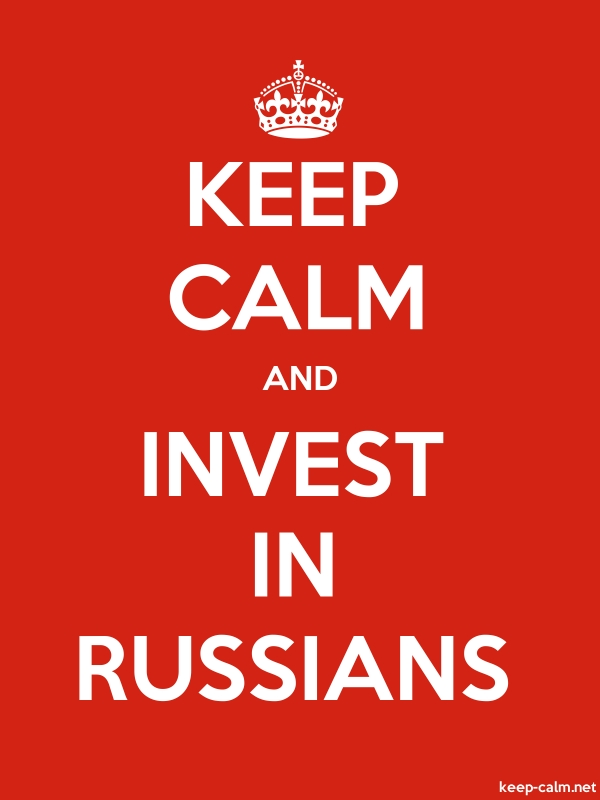 KEEP CALM AND INVEST IN RUSSIANS - white/red - Default (600x800)