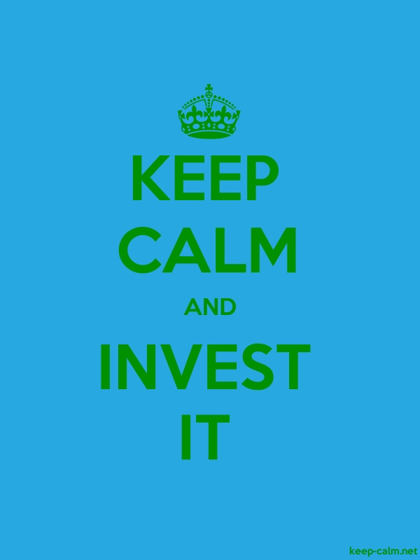 KEEP CALM AND INVEST IT - green/blue - Default (600x800)