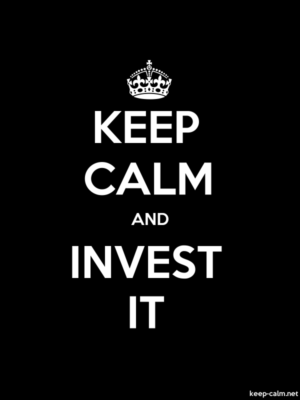 KEEP CALM AND INVEST IT - white/black - Default (600x800)