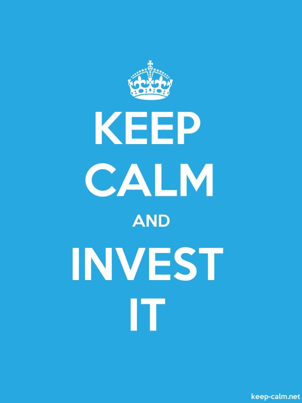 KEEP CALM AND INVEST IT - white/blue - Default (600x800)