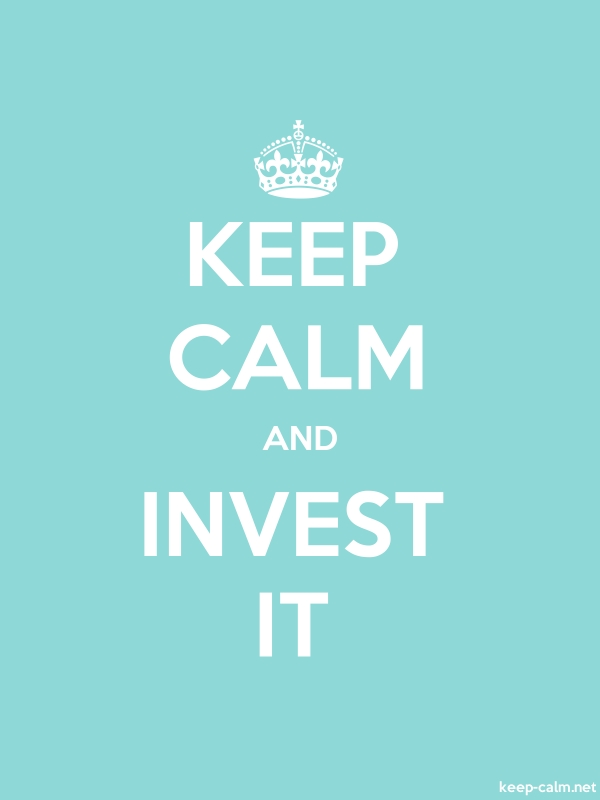 KEEP CALM AND INVEST IT - white/lightblue - Default (600x800)