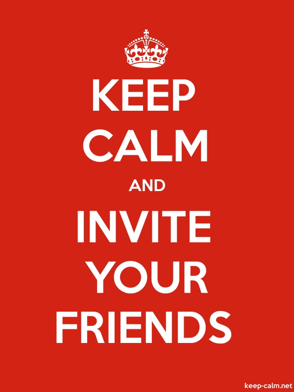 KEEP CALM AND INVITE YOUR FRIENDS - white/red - Default (600x800)