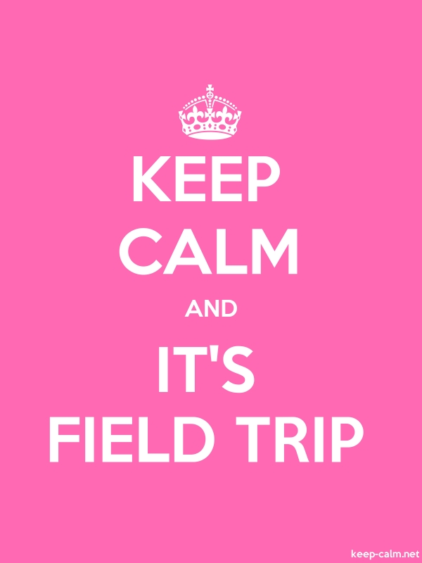 KEEP CALM AND IT'S FIELD TRIP - white/pink - Default (600x800)