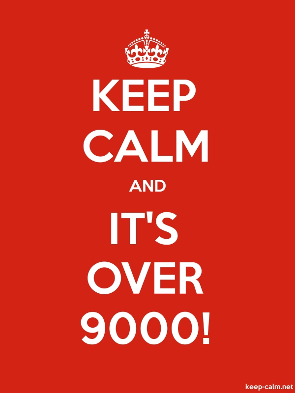 KEEP CALM AND IT'S OVER 9000! - white/red - Default (600x800)