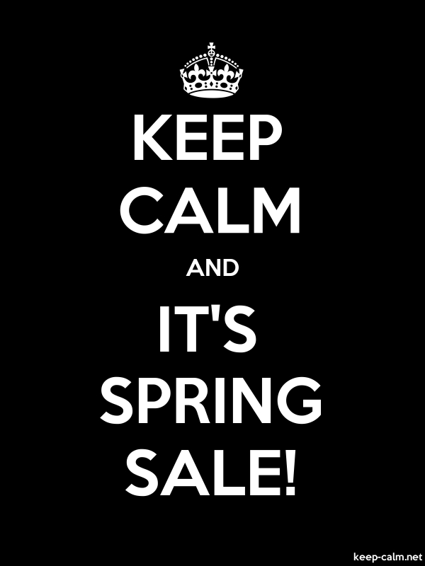 KEEP CALM AND IT'S SPRING SALE! - white/black - Default (600x800)