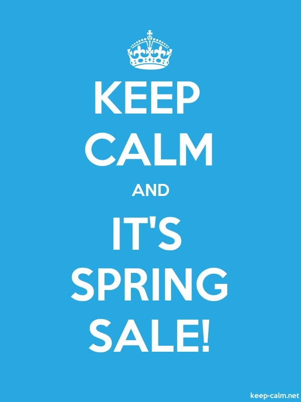 KEEP CALM AND IT'S SPRING SALE! - white/blue - Default (600x800)