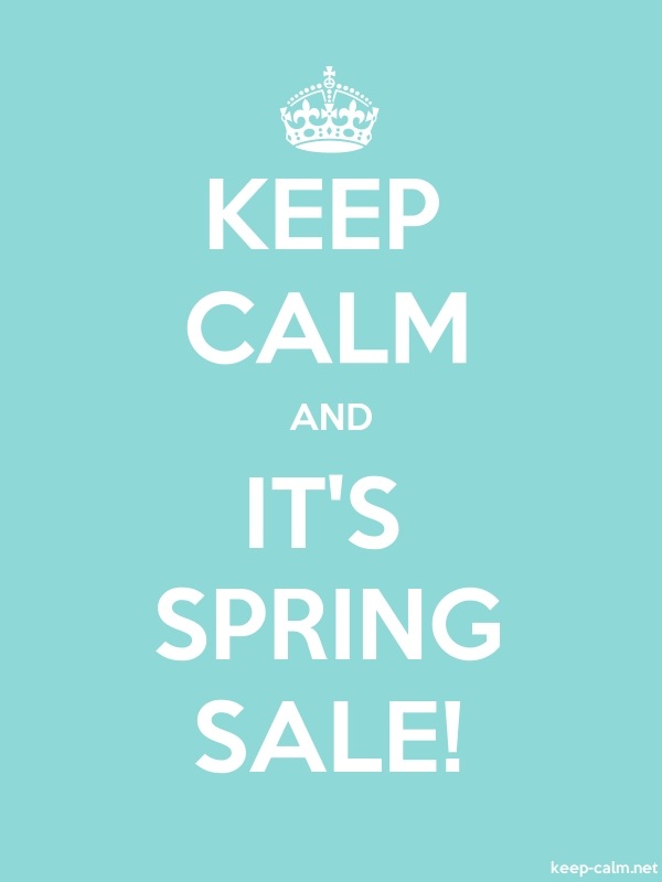 KEEP CALM AND IT'S SPRING SALE! - white/lightblue - Default (600x800)