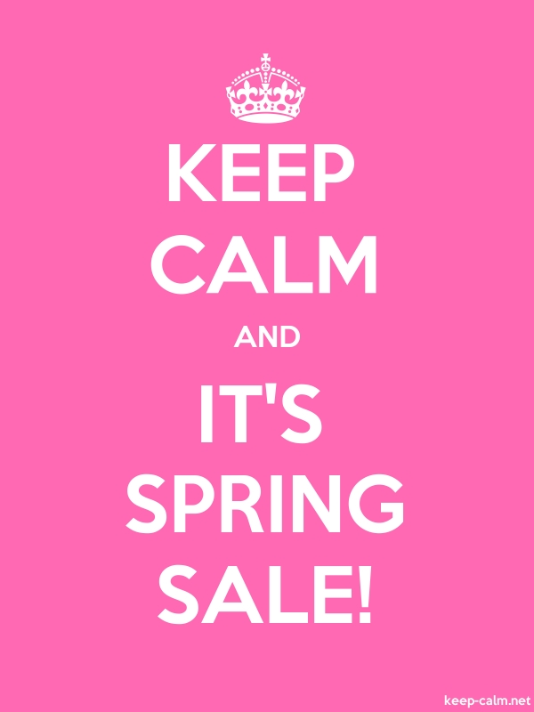 KEEP CALM AND IT'S SPRING SALE! - white/pink - Default (600x800)