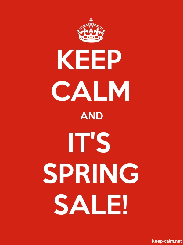 KEEP CALM AND IT'S SPRING SALE! - white/red - Default (600x800)