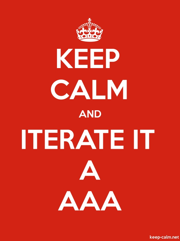 KEEP CALM AND ITERATE IT A AAA - white/red - Default (600x800)