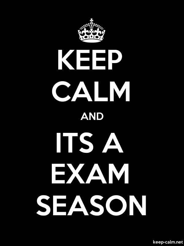 KEEP CALM AND ITS A EXAM SEASON - white/black - Default (600x800)